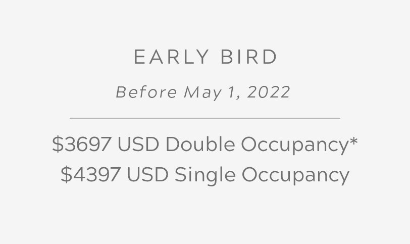 Early Bird Before May 1, 2022